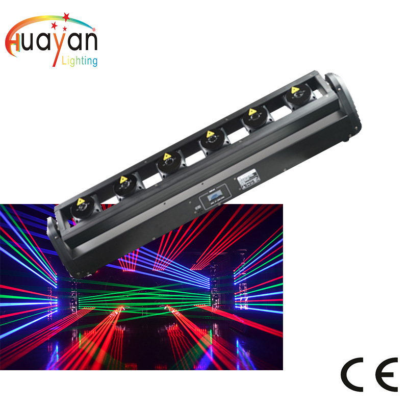 3W RGB Full color 6 heads fat beam moving head laser array moving laser bar 3w RGB fat beam moving laser bar|Stage Lighting Effect| |  - title=