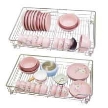 Drawer For Organizer Rangement Cuisine Cestas Para Colgar En La Ducha Stainless Steel Cozinha Cocina Rack Kitchen Cabinet Basket