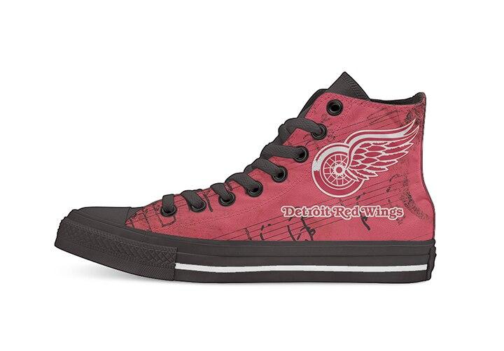 Design créatif pour glace Hocky Detroit Red Wings Fans haut Top toile chaussures personnalisées plat chaussures décontractées livraison directe