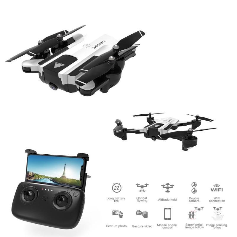 VODOOL SG900 Mini Drone Com Câmera HD 720P Braço Dobrável RC Quadcopter Helicóptero Auto Retorno WiFi FPV Drone Seguir me Mode Dron