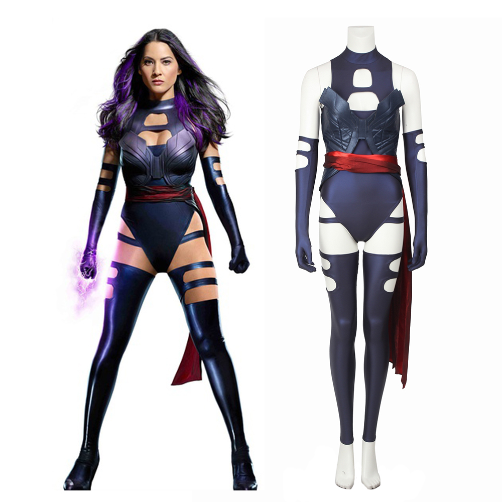 New X-Men Apocalypse Psylocke Elizabeth Betsy Braddock Cosplay Costume Full Set