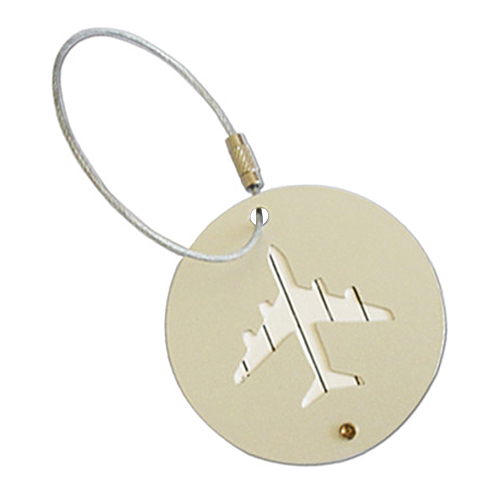 Fashion Suitcase Luggage Tag Hollow Out Round ID Address Holder Identifier Label