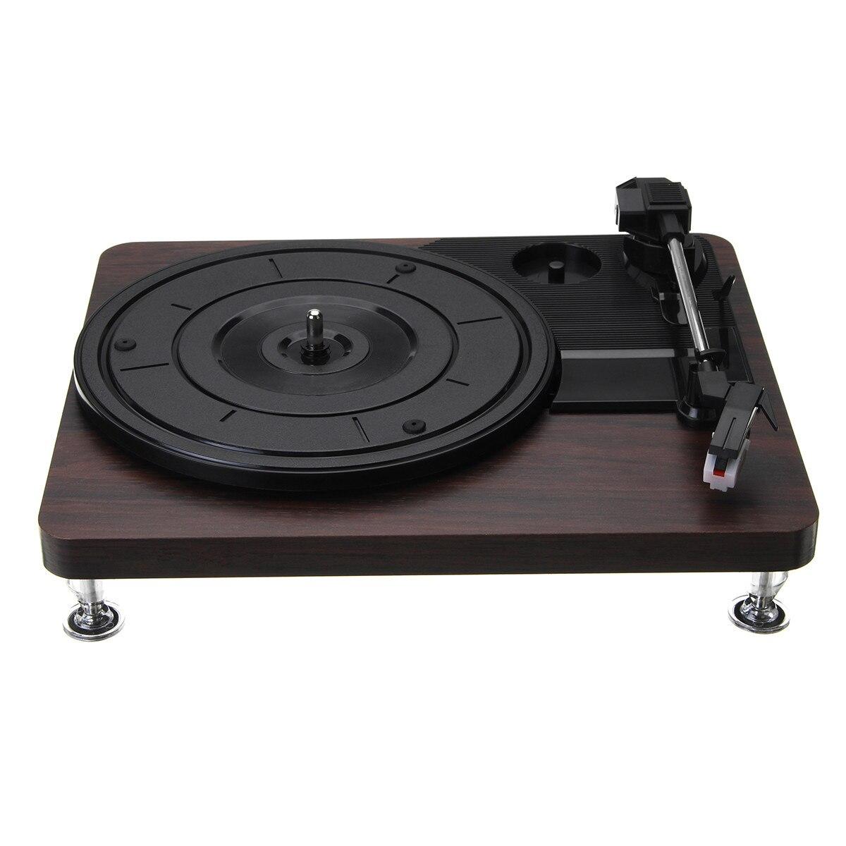 Plattenspieler Unterhaltungselektronik 33 Rpm Kunststoff Rekord Retro Player Portable Audio Grammophon Plattenspieler Disc Vinyl Audio Rca R/l 3,5 Mm Ausgang Out Usb Dc 5 V