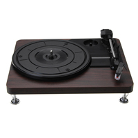33Rpm Plastic Record Retro Player Portable Audio Gramophone Turntable Disc Vinyl Audio Rca R/L 3.5Mm Output Out Usb Dc 5V