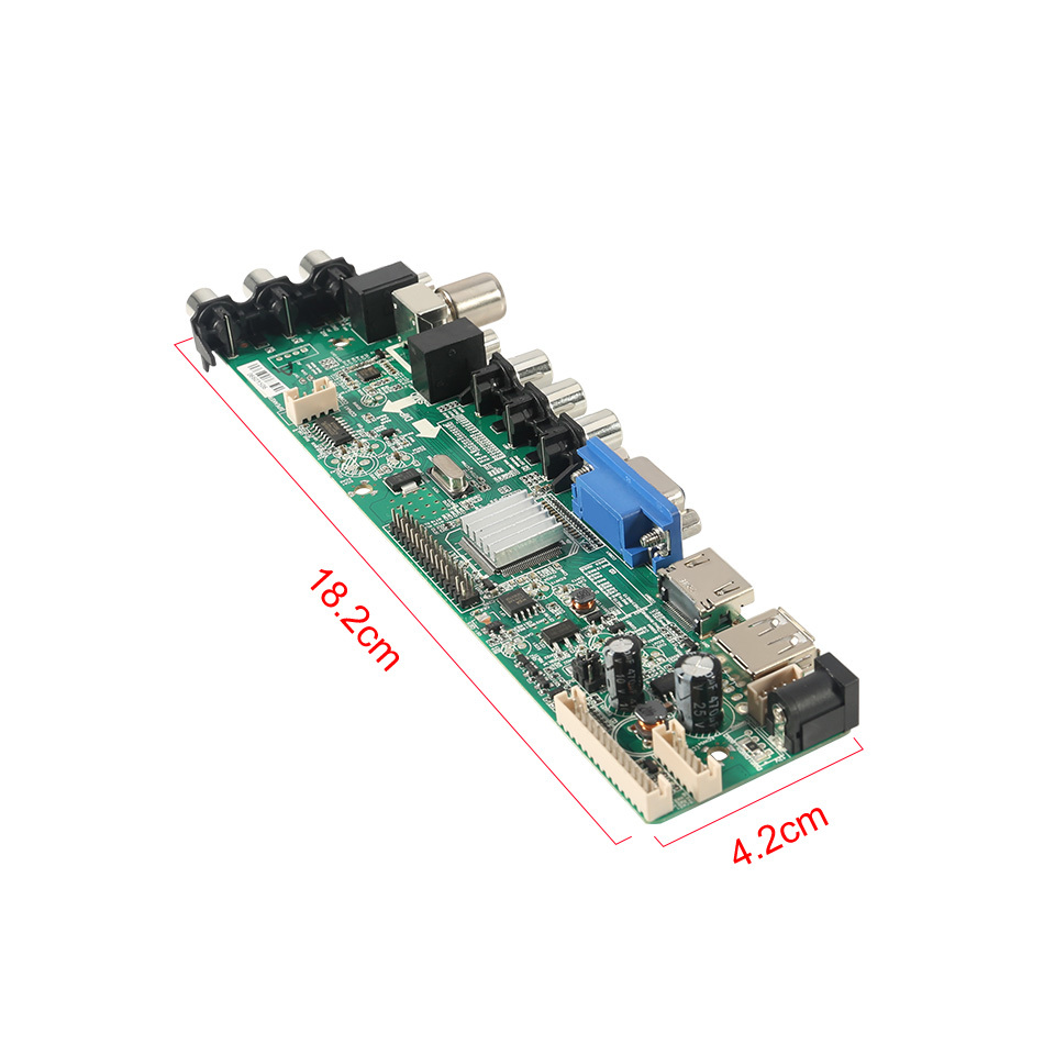 Image 4 - 3663 New Digital Signal DVB C DVB T2 DVB T Universal LCD TV Controller Driver Board UPGRADE 3463A Russian USB play LUA63A82-in Replacement Parts & Accessories from Consumer Electronics