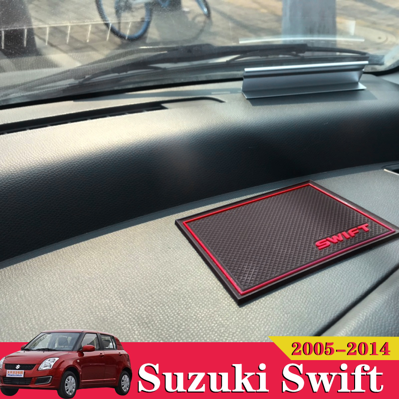 10x Car Accessories Inner Gate Slot Pad Non-Slip Cup Mats Anti Slip Door Groove Mat Interior For <font><b>Suzuki</b></font> <font><b>Swift</b></font> <font><b>2005</b></font> 2006 2010 image