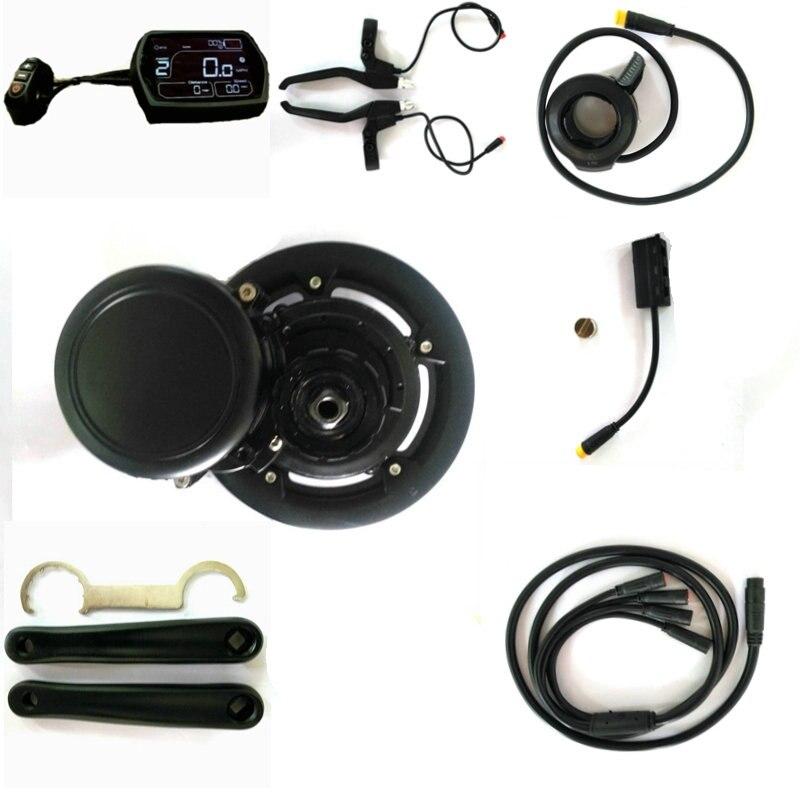 Frete grátis EBBS02 DIY ebike Conversão Kit MidMotor, sensor de Torque 36 V 500 W 48 v/52 v 750 w Bicicleta Elétrica de Alta Velocidade Do Motor