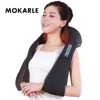 U Shape Electrical Neck Massager Shiatsu Kneading Body Massager Massage Pillow Infrared Heating Car Home Massaging Device Health