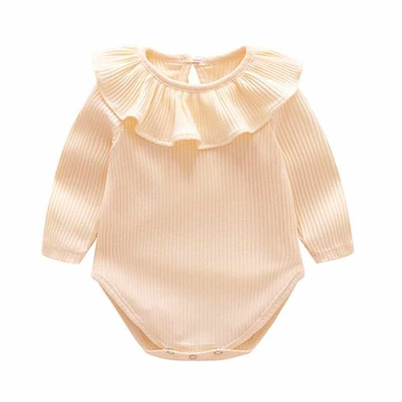 Baby Girl Knitted Bodysuits Newborn Clothes 2019 Spring Autumn Long Sleeve Ruffle New Born Girl Onesie Infantil Menina Body Suit