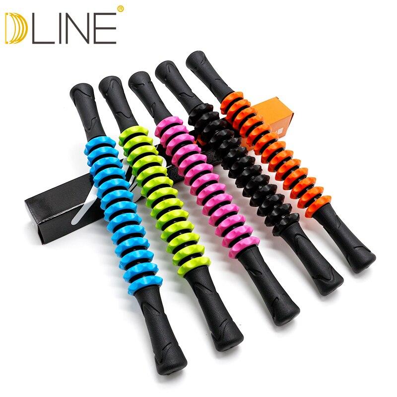 Fijn Dline Gym Spier Massage Roller Yoga Stok Spier Body Massage Relax Tool Spier Roller Sticks Met Ronde Bal