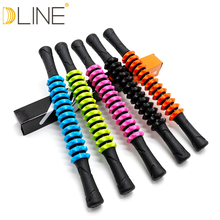 dline Gym Muscle Massage Roller Yoga Stick Body Relax Tool Sticks with Round Ball