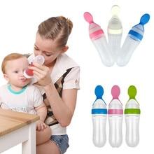 90 мл детская бутылочка для кормления с язык прессования типа губы рот ложка Младенческая обучение молоко рисовая паста сжимает Кормушка Посуда