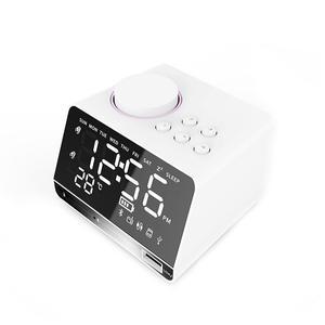Image 3 - ポータブルスピーカー X11 スマートデジタルアラーム時計傷のつきにくいミラー Bluetooth プレーヤーステレオ Hd 音 Devies ホームオフィス