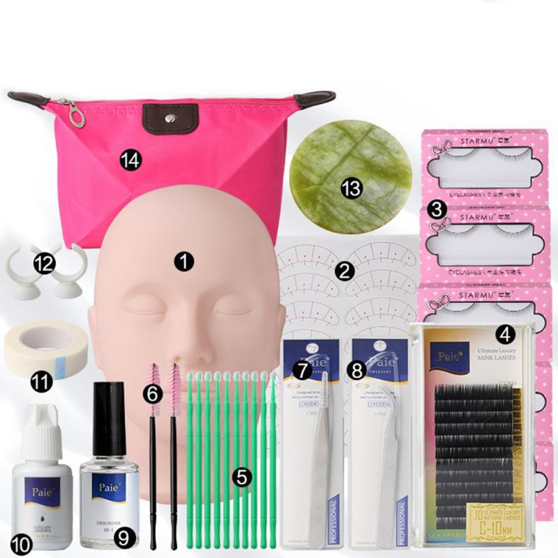 Makeup Tool False Eyelashes Extension Glue Tool Grafting Eyelash Tools Set Full Mannequin Training Makeup  Practice Kit Makeup