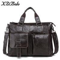 X. D. BOLO Мужская сумка из натуральной кожи мужская сумка на плечо Повседневная мужская сумка-портфель для ноутбука сумки через плечо для мужч...