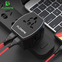 Floveme 4 Ports USB Charger For iPhone Xiaomi Samsung Pad Laptop Smart Plug Fast Wall Travel Worldwide Universal Adapter