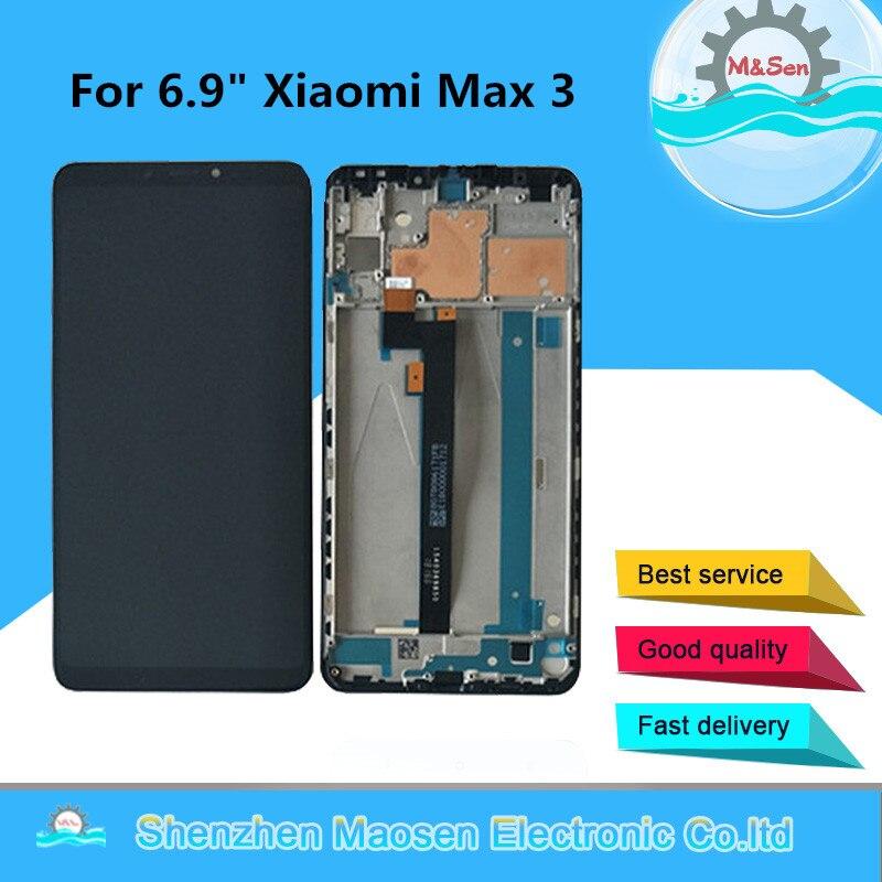 Оригинальный M & Sen для 6,9 xiaomi max 3 mi max 3 ЖК-экран сенсорный дигитайзер с рамкой для xiaomi max 3 ЖК-дисплей + Инструменты