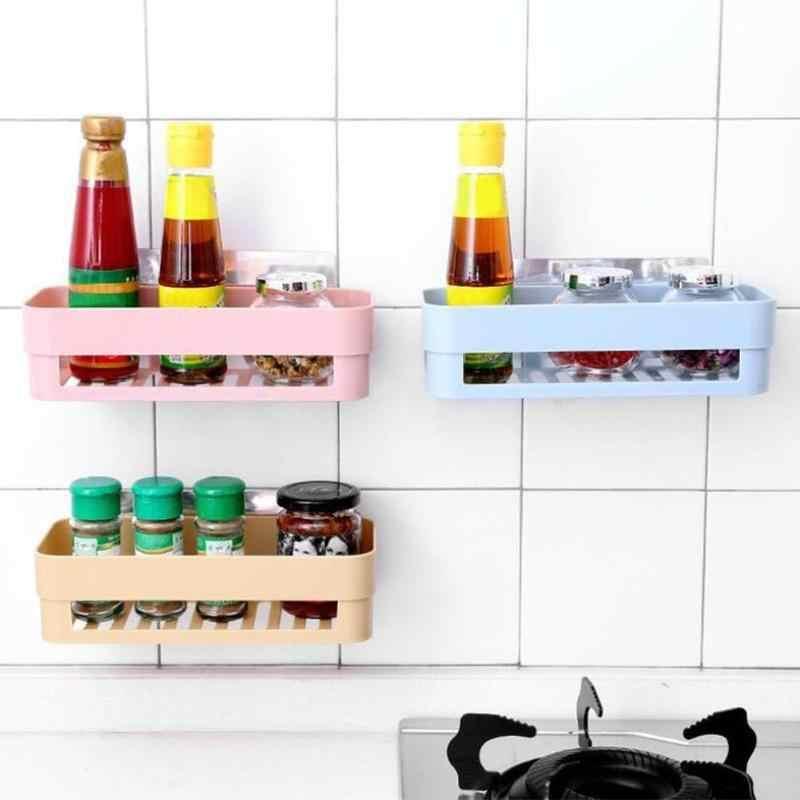プラスチックウォールマウントシンクドレインラックオーガナイザー浴室キッチン収納ストレージ布スポンジホルダー棚