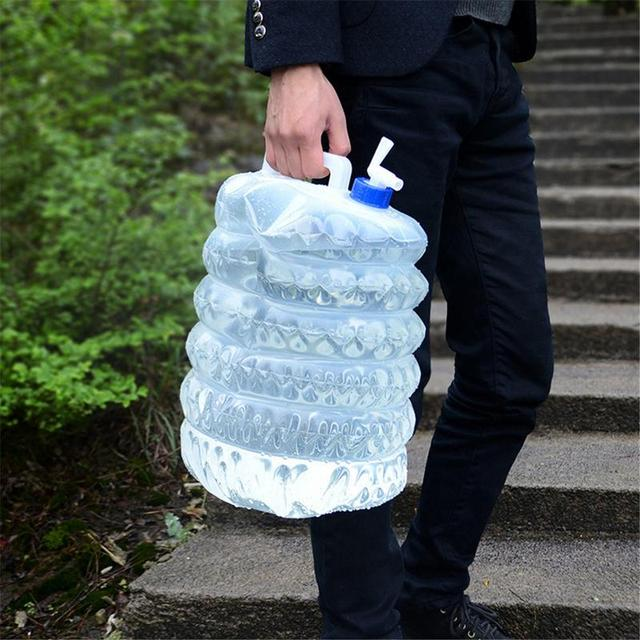 1pc 5L/10L Outdoor Camping Water Bag 8