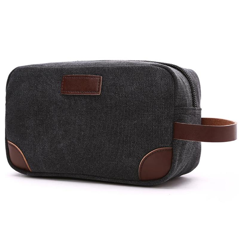 18c46dca6dad US $10.01 38% OFF|Portable Canvas Cosmetic Makeup Bag For Women Men Female  Ladies Travel Unisex Beauty Shaving Kit Toiletry Bag Pouch-in Cosmetic Bags  ...