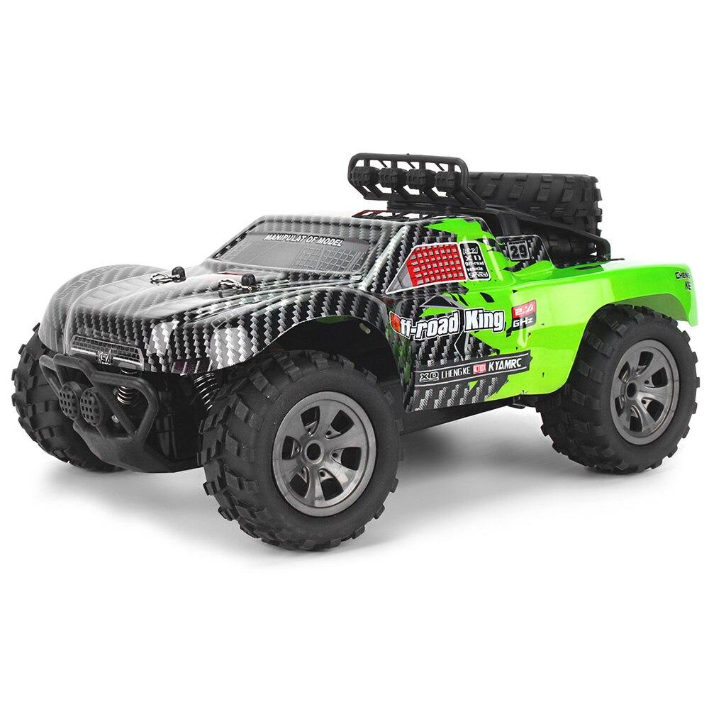 2.4 GHz télécommande sans fil jouet 1/18 échelle 18 km/H voiture RC 4 canaux dérive RC voiture tout-terrain désert monstre camion RTR jouet cadeau