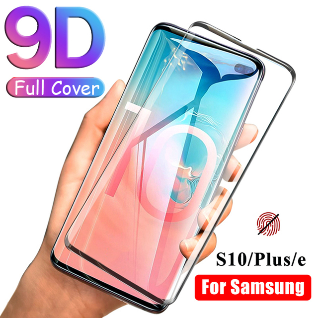 9D Curved For Samsung Galaxy S10 Plus e Tempered Glass On The For  Samsung Galaxy S9 S8 Plus S 10 9 8 Note 9 8 Screen Protector