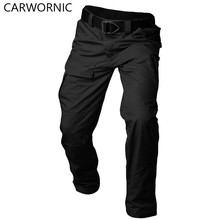 CARWORNIC New Tactical Pants Men Camouflage Waterproof Street Work Cargo Pants Casual Elastic Multi Pocket Men Trousers