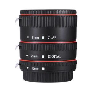 Image 1 - Andoer צבעוני מתכת TTL פוקוס אוטומטי AF מאקרו Tube הארכת טבעת עבור Canon EOS EF EF S 60D 7D 5D השני 550D אדום הארכת צינור
