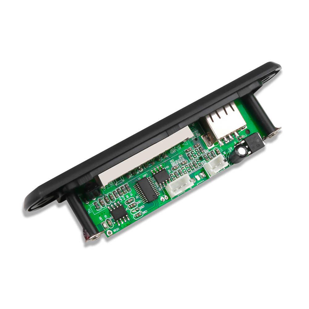 مشغل MP3 من Kebidu 5 فولت 12 فولت بدون بلوتوث MP3 WMA WAV لوحة فك تشفير صوت السيارة وحدة USB TF راديو FM مع جهاز تحكم عن بعد للسيارة