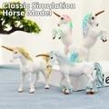 16X10cm/10X17cm Classic Simulation Toy Animal Model Doll Rainbow Horse European Mythology Legend Animal Beast Variety