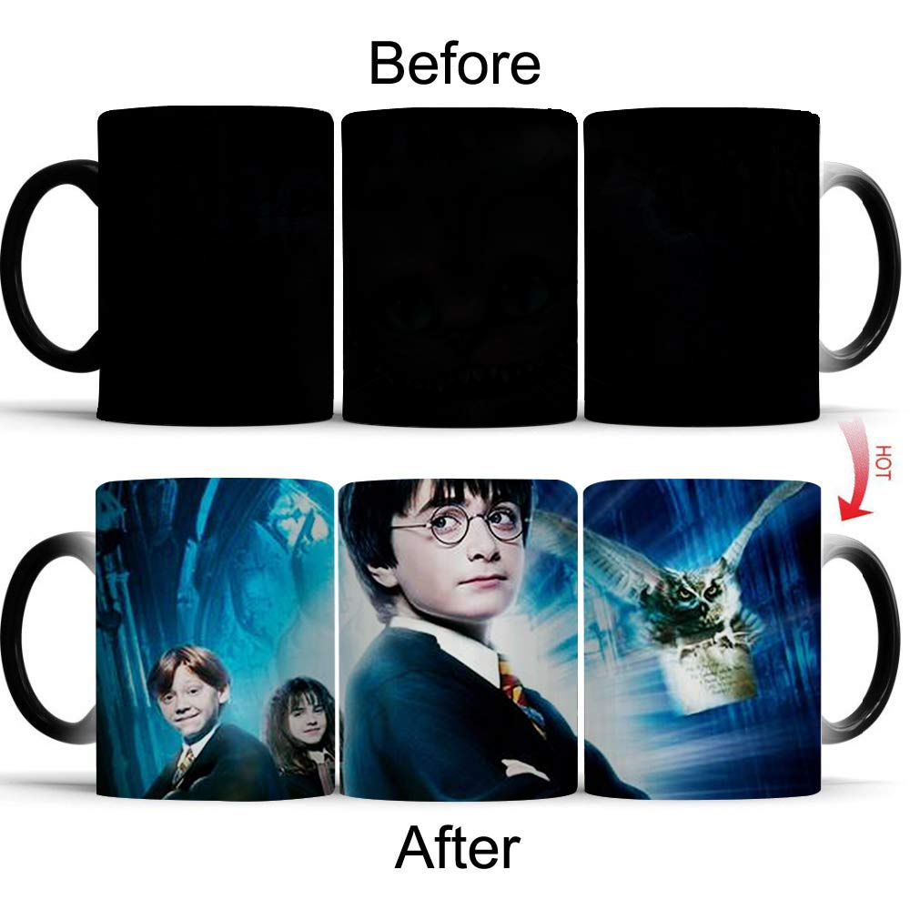 Wellcomics Harri Potter Gryffindor Hermione Heat Reveal Mug Color Change Cup Sensitive Morphing Mugs Temperature Sensing Mug