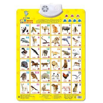 Brinquedo voz x Bateria Crianças Educacional Multifuncional Velho Early Years Gancho Com 3 Educacional Aprendizagem Gráfico Parede AA