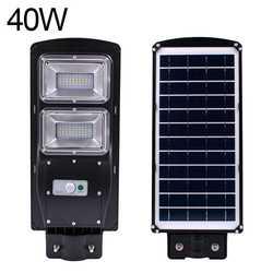 Водостойкий Уличный настенный уличный свет 40 Вт Солнечный радар движения + свет/пульт дистанционного управления для сада Двор уличный