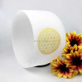Cuenco de sonido para meditación, diseño de flor de la vida, 8 pulgadas-12 pulgadas, 7 tonos de Chakra, CDEFGAB curativo