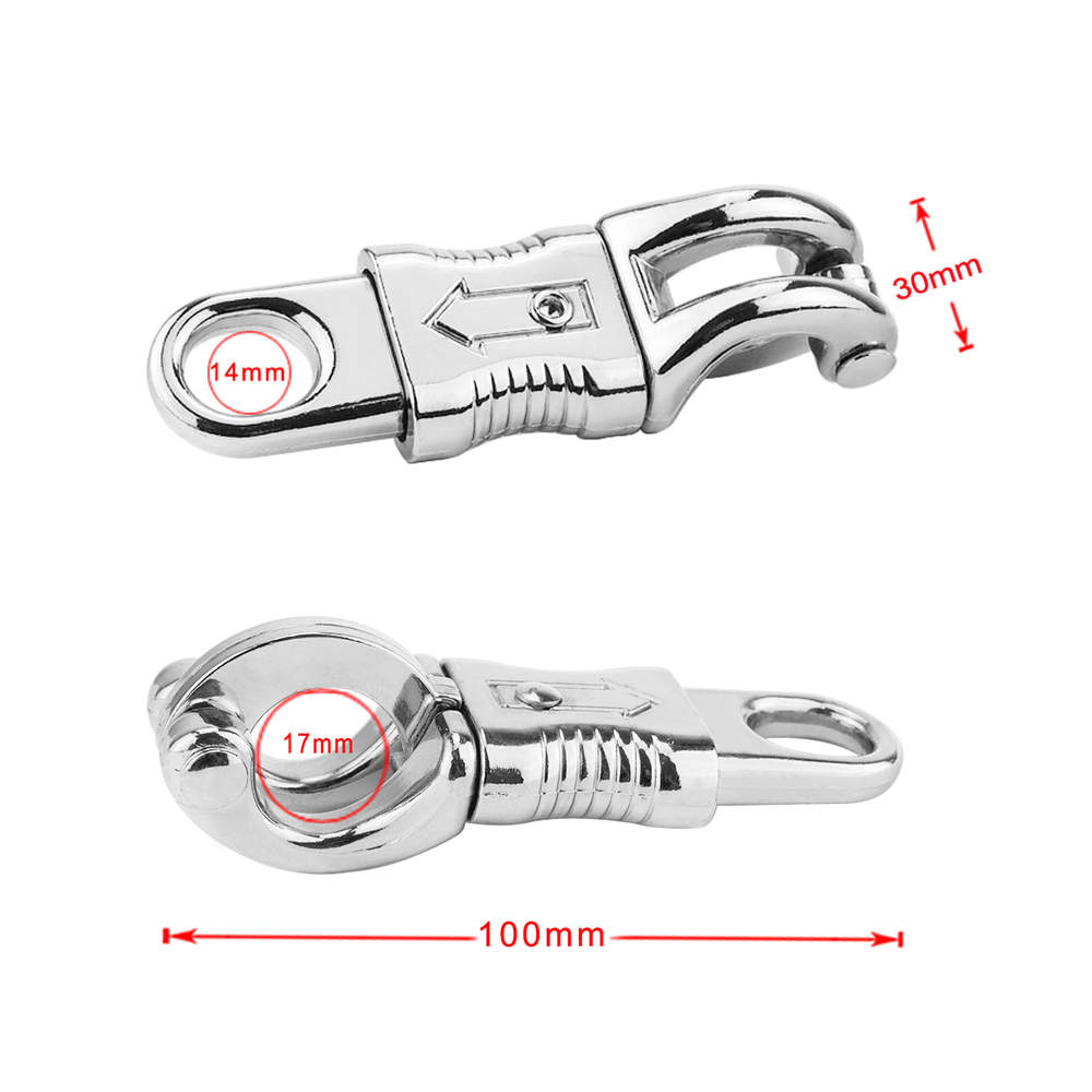 Image 5 - Zinc Alloy Equestrian Panic Hook Quick Release Horse Panic Clips Buckles 100 * 30mm Hook-in Halters from Sports & Entertainment