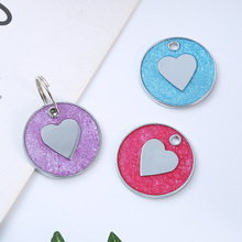 Personalized Heart Engraved Metal Customized Pet Dog ID Tags Collar Accessories