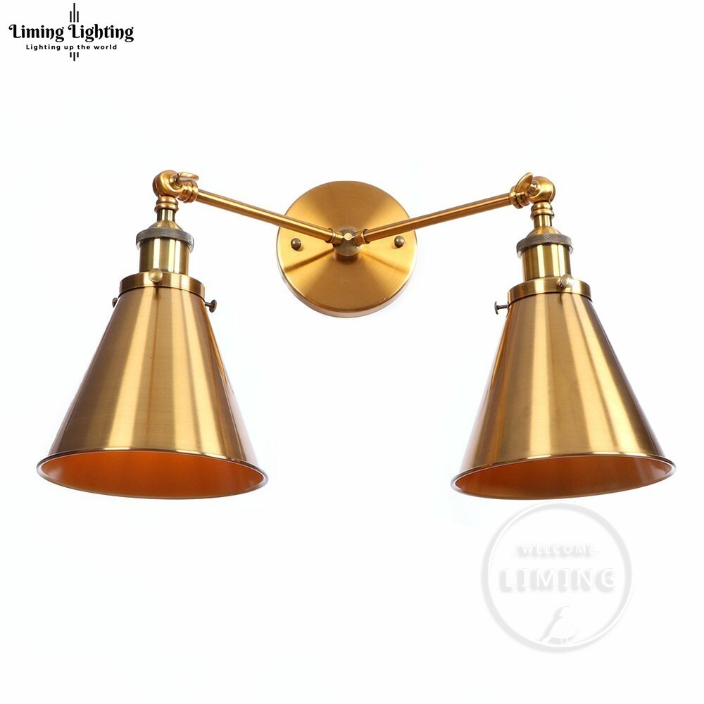 Modern Vintage Iron Edison Double Heads Retro American Style Bedside Antique Wall Lamp E27 Wall Sconce Bedroom Light FixturesModern Vintage Iron Edison Double Heads Retro American Style Bedside Antique Wall Lamp E27 Wall Sconce Bedroom Light Fixtures