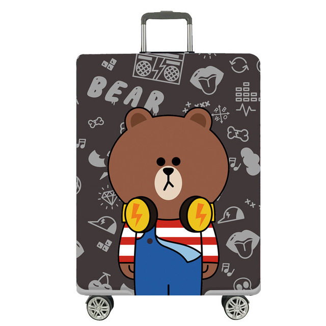 Travel Luggage Protective Cover Case Fabric Cartoon Dust Pouch