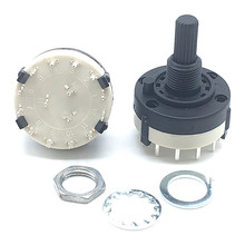 1pc RS26 3P4T 3 Pole 4 Position Selectable Band Rotary Channel Selector Switch Handle length 20MM with knob