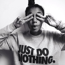 2018 Just Do Nothing Sudaderas Mujer Fashion Women Casual Lo