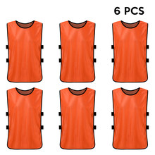 b8623c35a 6 PCS Quick Drying Football Jerseys Sports Children Vests Kid s Soccer Vest  Pinnies Youth Team Training Practice Sports Vest
