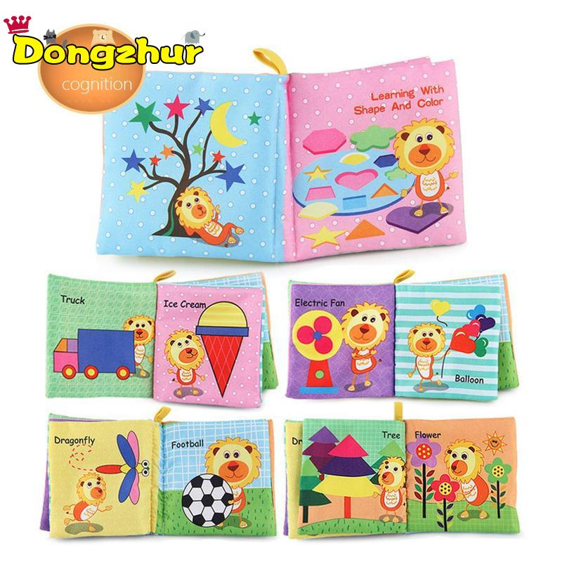 8/10pages Baby Rattles Mobiles Toy Soft Animal Cloth Book Stroller Hanging Toy Babe Early Learning Educate Baby Toys