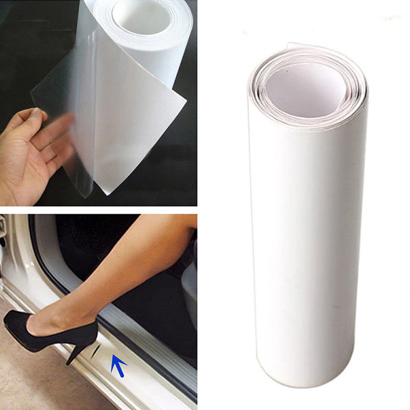 "6x60/"" DIY Clear Vinyl Car Door Sill Edge Paint Anti-Scratch Protector Film Sheet"