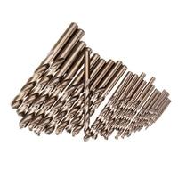 New 25Pcs 1 13Mm Hss M35 Cobalt Twist Drill Bit Set For Metal Wood Drilling