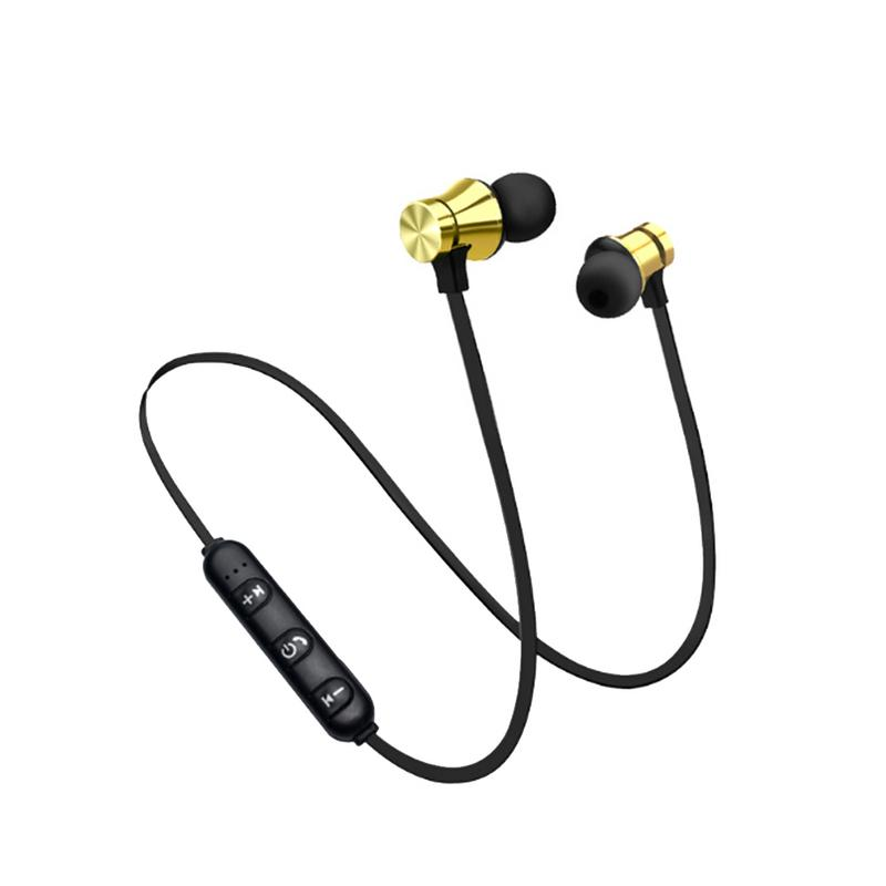 Magnetic Suction Bluetooth Earphone Headset Waterproof Sports 4.2 With Charging Cable/NFC Earphone Headphones With Microphone image