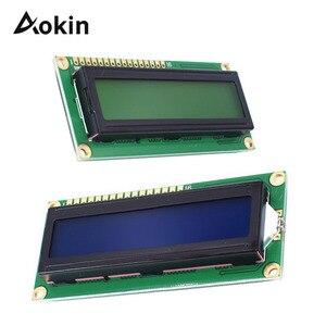 Персонаж ЖК-дисплей модуль LCD1602 1602 Модуль синий зеленый экран 16x2 HD44780 контроллер синий черный свет