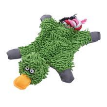 Pet Dog piszcząca zabawka trwała śliczna kaczka Papa dokonywanie dźwięku pluszowy pies zabawki do gryzienia dla szczeniaka szkolenia gryzaki dla małych średnich psów tanie tanio TAONMEISU Polar Squeak zabawki Dog toy