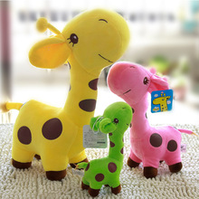 1Pcs Cute Color Deer Doll Large Giraffe Plush Toys  Wedding Throw Grasping Machine For Girl Gift 12cm/18cm 2019 NEW