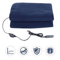 12V Car Winter Hot Navy Blue Polar Fleece Constant Temperature Heating Blanket Car Electric Blanket Cover Pad Mat 3 Model