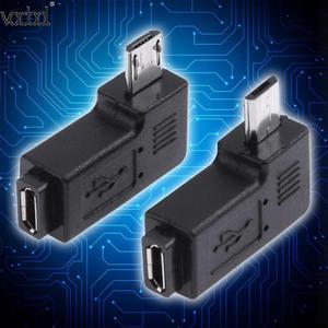 Image 3 - 2 pçs/lote 90 graus usb esquerda & direita angular micro 5pin fêmea para micro usb adaptador de dados macho para mini conector usb plug micro usb